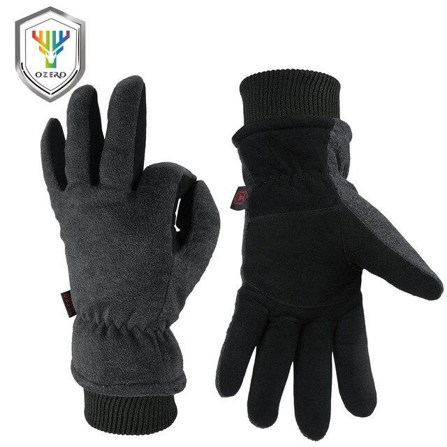OZERO оленья кожа лыжные перчатки зимние уличные спортивные теплые непромокаемые теплые ниже нуля велосипедные перчатки для мужчин женщин 9019