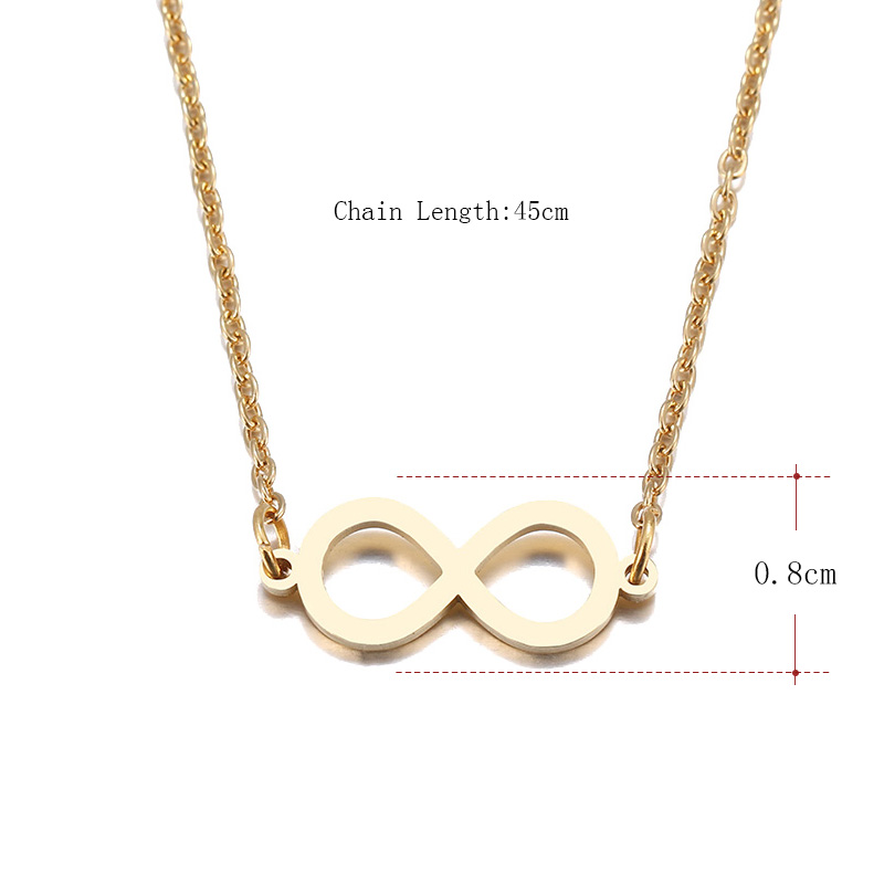 Hibobi Necklace Women Stainless Steel Jewelry Chic Infinity Trendy Necklaces Pendants Donot Fade Valentine`s Day Gift (3)