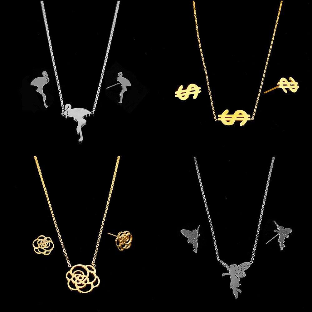 Brautschmuck Sets Das Beste Sellsets Klassische Gold & Weiß Farbe Kleiner Waterdrop Kristall Braut Schmuck Set Halskette Ohrring Sets Für Frauen Schmuck & Zubehör