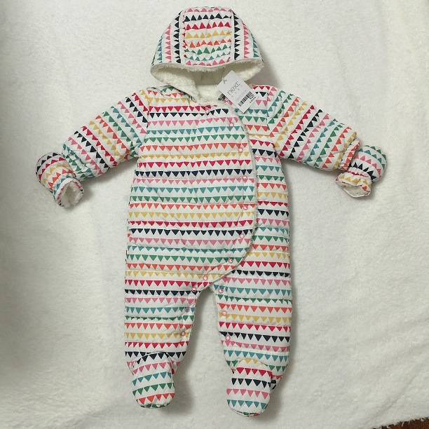 2017 new arrival baby rompers autumn and winter , baby boy girl fashion Cotton Covered Button Hooded Character  baby clothes