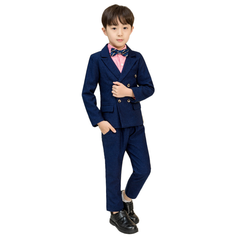 Kids Dark Blue tuxedo wedding suit Clothing Sets Wedding Party Boys Suits School Uniforms GH415Kids Dark Blue tuxedo wedding suit Clothing Sets Wedding Party Boys Suits School Uniforms GH415