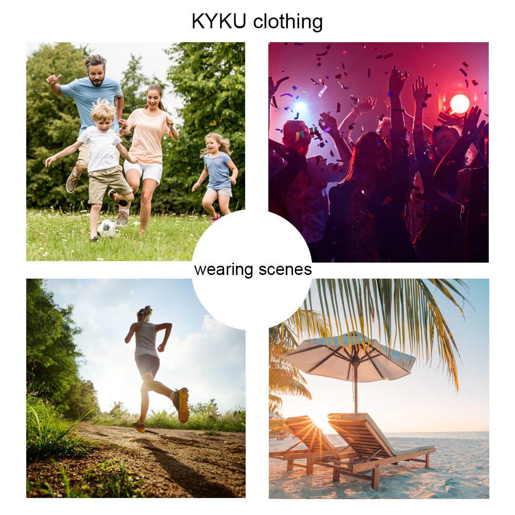 KYKU Psychedelic T shirt Männer 3d t-shirt Schwindel Gedruckt T-shirt Schwarz Shirt Kurzarm Punk herren kleidung Casual sommer tops