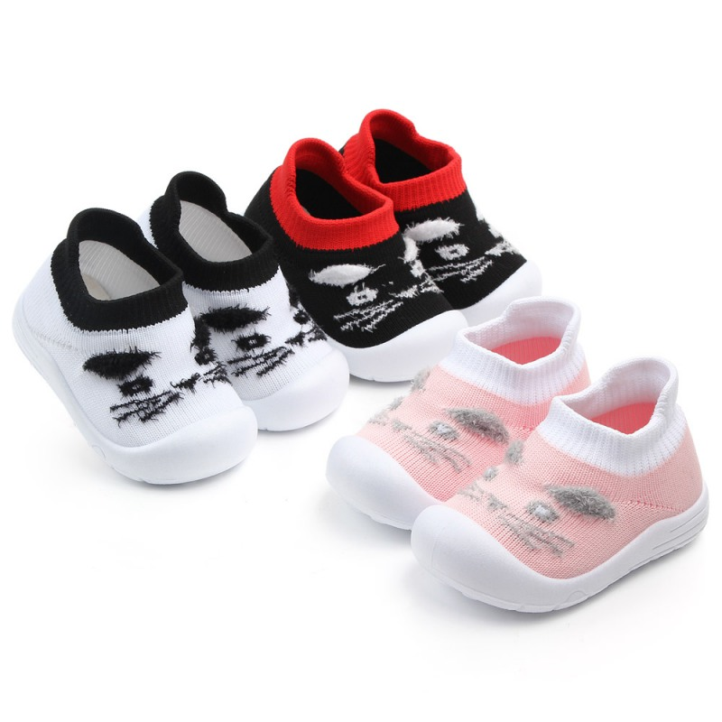 Cartoon Character Style Toddlers Baby Girl Boy Shoes Sneakers Baby Moccasins Soft Bottom First Walkers Bebe Anti-slip