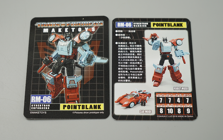 Third party DHCL TF Action figure Card for MT Contact Shot