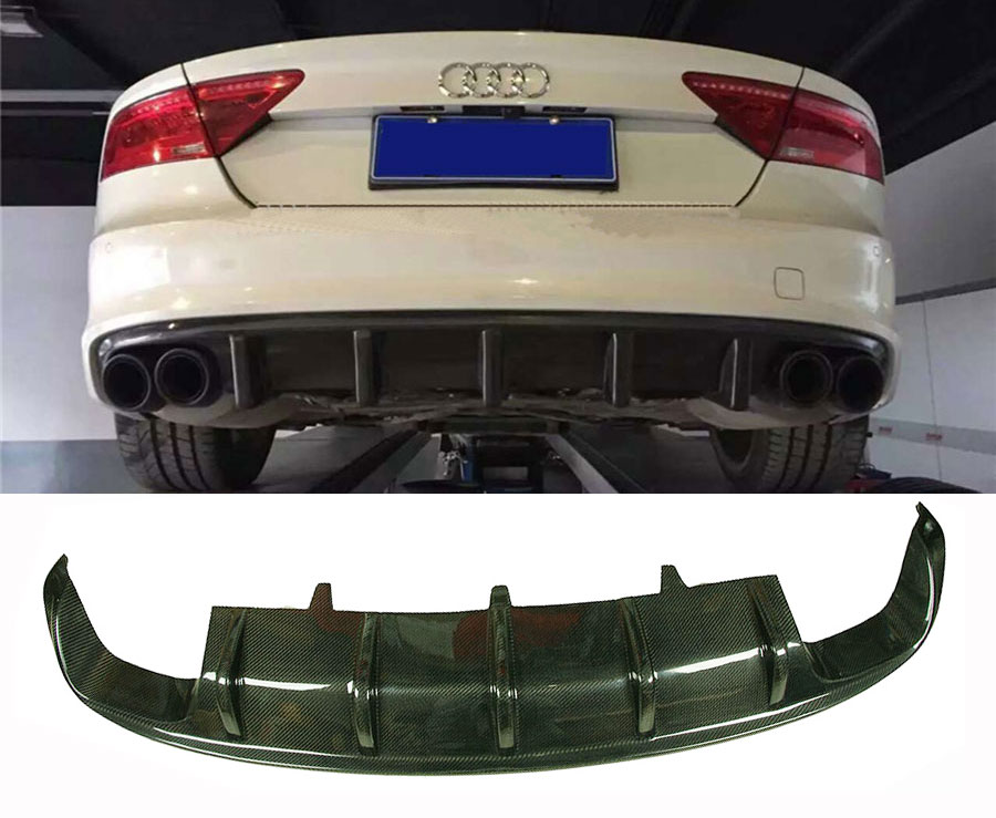 DTM Style Real Carbon Fiber Rear Diffuser For Audi A7 S7 RS7 2012UP