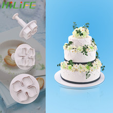 HILIFE 3pcs/set Bread Jelly Chocolate Ice Pudding Gum Paste Hydrangea Mold for Fondant Cake Food-grade PP Cake Decorating Tool(China)