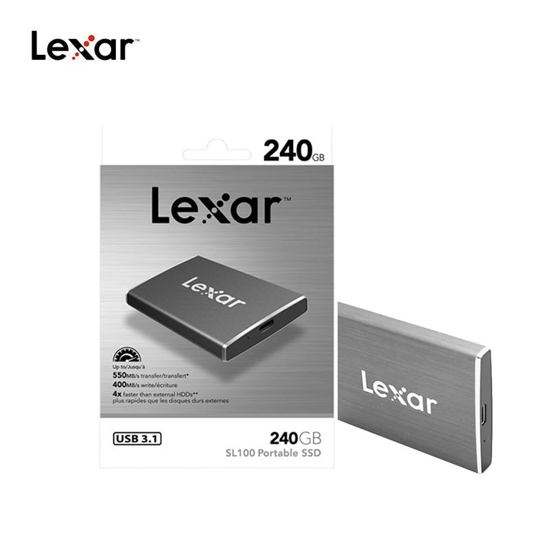 Lexar USB 3.1 External SSD HDD 550MBS 240GB 512GB TypeC Portable Solid State Drives Duro Externo Nas Server External Hard Drive 5