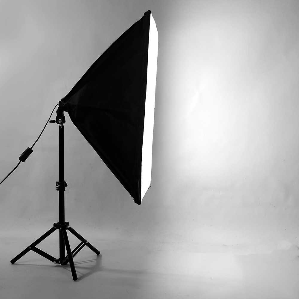 Photography SoftBox Lighting Kit 50x70cm Softbox +75cm Light Stand Tripod Small Photo Box For Camera Phone Video Shooting