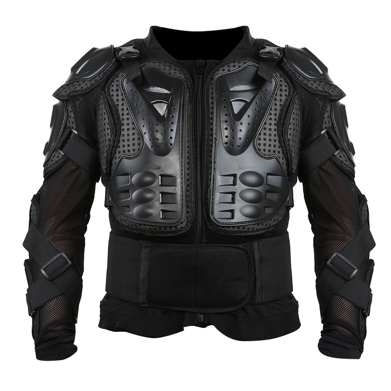 Liplasting New Black Full Motorcycle Body Armor Shirt Jacket Motocross Back Shoulder Protector Gear S XXXL