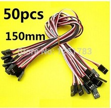 50x 150mm Male to Male JR Plug Servo Extension Lead Wire Cable 15cm Servo extension cord