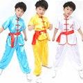Adultos das crianças dacne Estilo Folk Chinesa Taichi Uniforme Crianças Meninos Adolescente Roupas de Artes Marciais Desgaste Desempenho Traje Esportivo