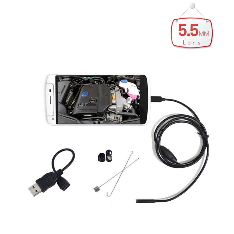 bilder für Micro HD 7mm Objektiv Wasserdicht Android Endoskop 1 mt/2 mt/3,5 mt/5 mt/kabel USB Endoskop Kamera Inspektion Endoskop Auto Endoskop