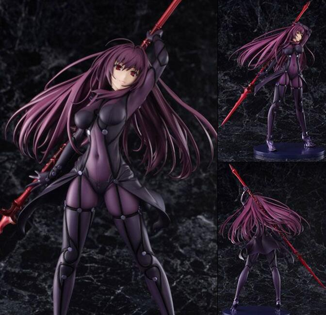 Fate Stay Night Action Figures Fate Grand Order Lancer Scathach Figure Toy 270mm Aquamarine Fate Anime