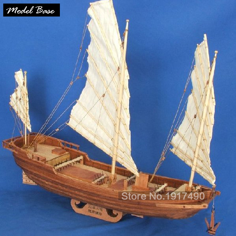 Wooden Ship Models Kits Train Hobby Diy Educational Toy Scale Models 1/62 Model Boats Wood 3d Laser Cut  Beihai Boat Drag China