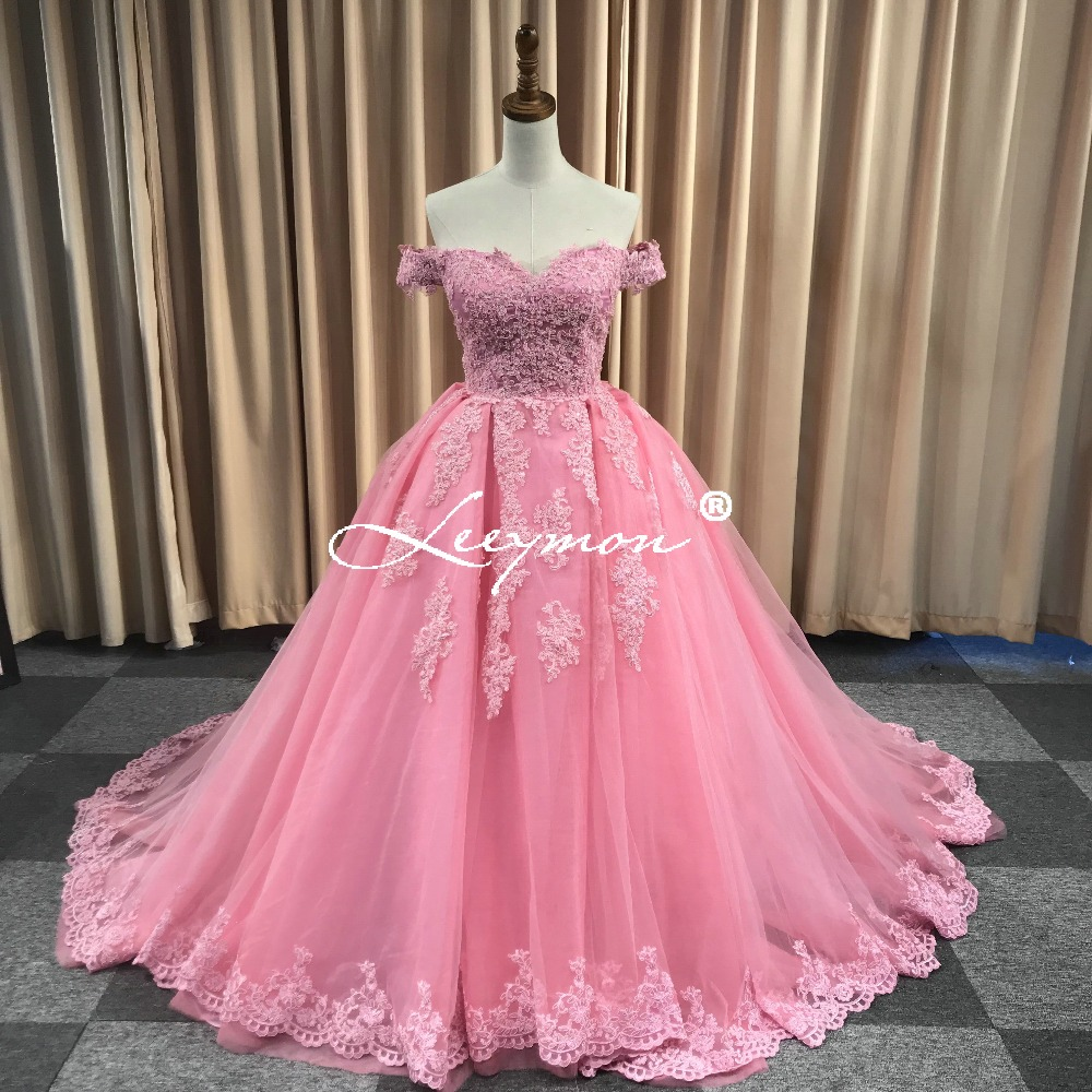 Realni uzorci Luksuzni izvan ramena Heavy Beaded Lace Ball Gown - Haljina za posebne prigode - Foto 4