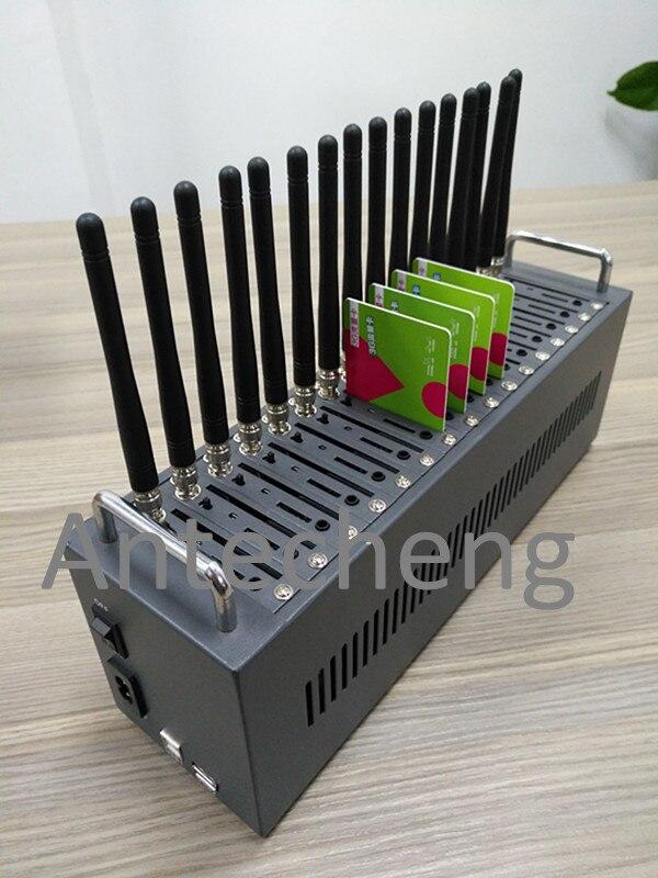 Masse sms expéditeur/récepteur 16 ports gsm modem pool 850/900/1800/1900 MHz prise en charge à la commande changement imei