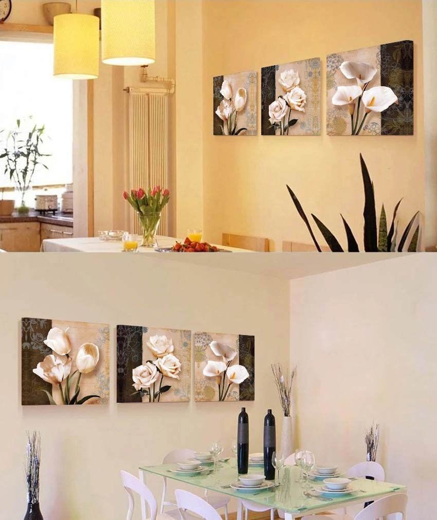 CLSTROSE Real Modern Spray Painting Top Selling 3 Pcs Canvas Wall ...