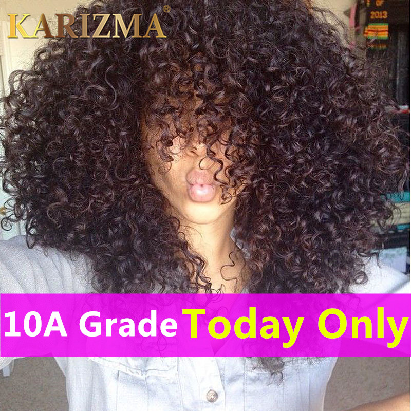 10A Brazilian Kinky Curly Virgin Hair 3 Bundles Afro Kinky Curly Hair Brazilian Virgin Hair Unprocessed Curly Weave Human Hair