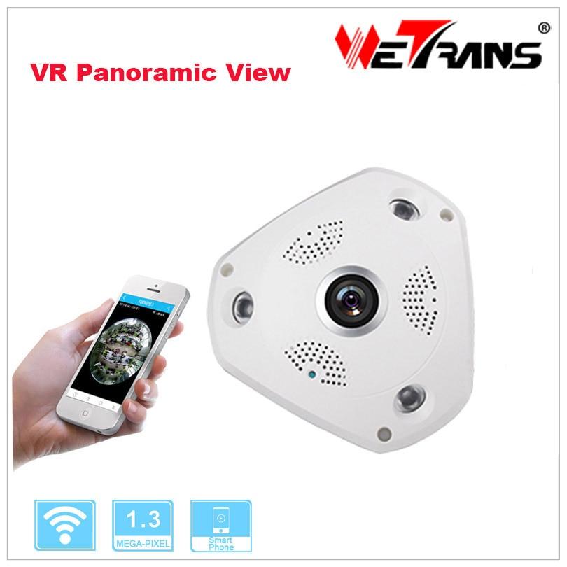 VR 360 Panoramic Wifi Camera IP 1 3 Megapixel 960P HD 3 LED Array 30m Night