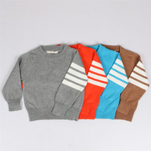 2016 New Style Cute Girls Boys Sweater New Fashion Age 12m-5y Baby Infant Winter Autumn Cotton O-neck Knitted Sweater Pullover