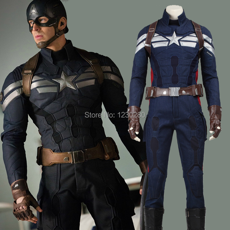 The Winter Soldier Steve Rogers Costume Cosplay Captain America 2 Superhero Suit Clothing Adult Halloween Carnival Costume Men & Hot Sale The Winter Soldier Steve Rogers Costume Cosplay Captain ...