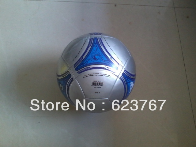 Free shipping 2013 newest high quality training soccer silver