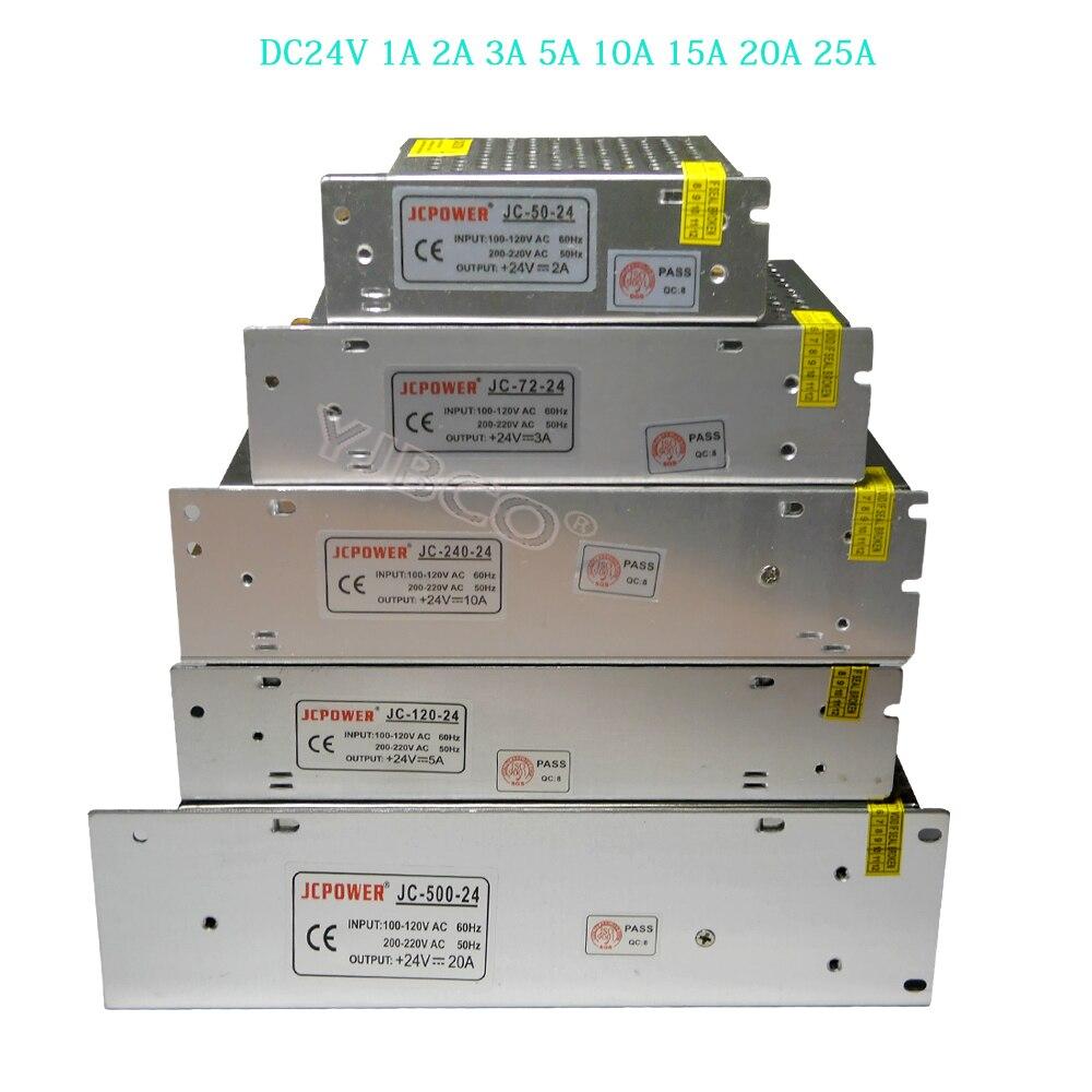 LED Switching Power Supply DC24V 1A 2A 3A 5A 10A 15A 20A 25A for 24V RGB led strip lamp lighting led driver Lighting Transformer 201w led switching power supply 85 265ac input 40a 16 5a 8 3a 4 2a for led strip light power suply 5v 12v output