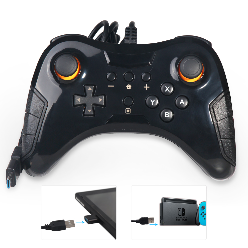 US $20 23 |USB Wired Gaming Gamepad Joystick for Nintendo Switch Pro  Controller, USB to Connect Steam, PC & Android Cable length for 1 5m-in
