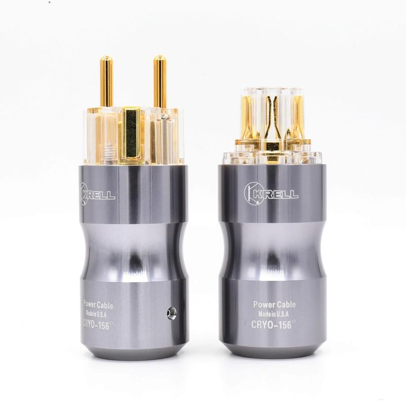 1 pair Krell Alta audio standard Europeo spina di alimentazione spina Audio HIFI presa di alimentazione1 pair Krell Alta audio standard Europeo spina di alimentazione spina Audio HIFI presa di alimentazione