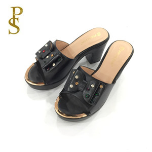 Image 5 - Yüksek topuklu bayan terlik sıcak satış yaz ayakkabı