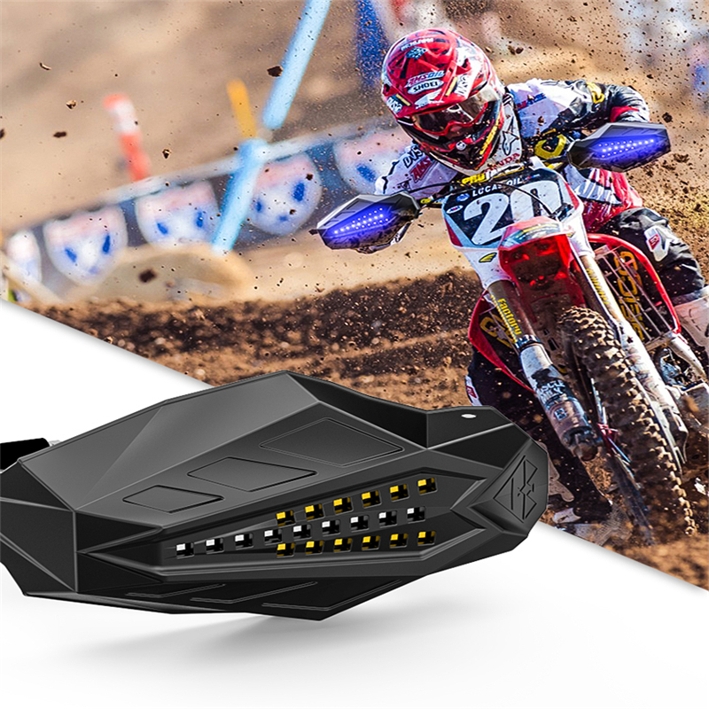 SPIRIT BEAST Motorcycle Hand Guards Protector LED Light Motocross Falling Protection Baffle Waterproof Universal Windshield Hood цена