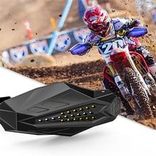 SPIRIT BEAST Motorcycle Hand Guards Protector LED Light Motocross Falling Protection Baffle Waterproof Universal Windshield Hood