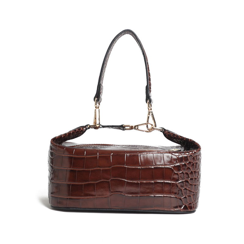2018 Net Red Mona Yuko Crocodile Tattoo Handbag.Rejina Pyo genuine split  leather Bento bag 547655fabbf72