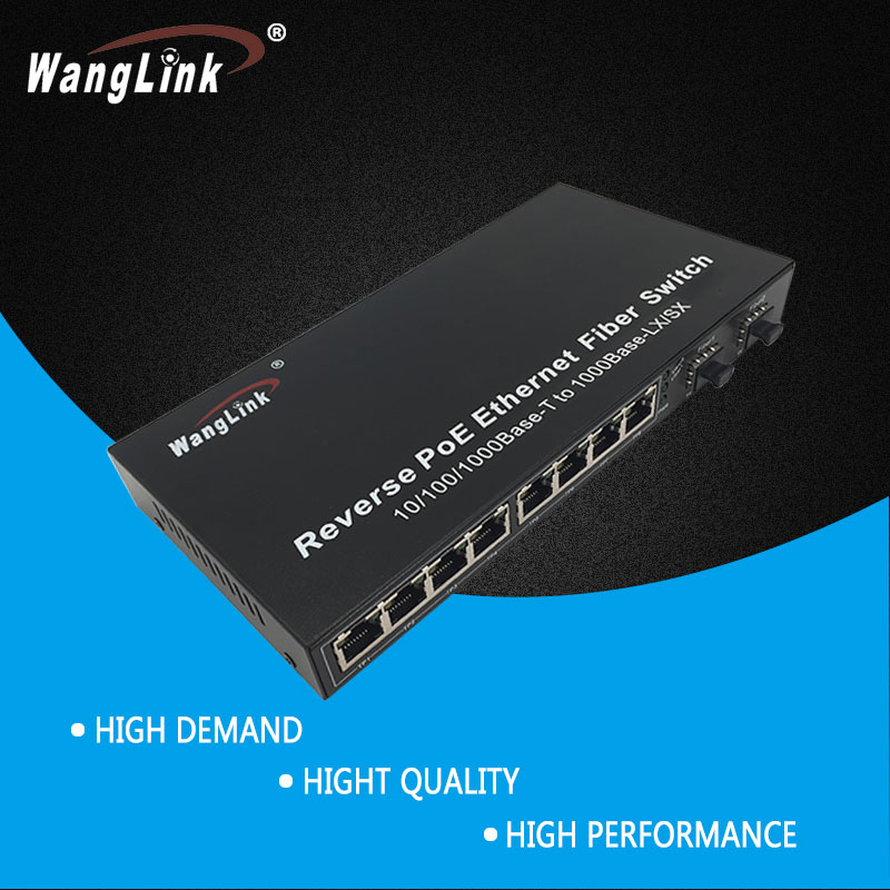 Reverse poe ethernet fiber switch  8  port Reverse poe switch with SFP slot 12V outputReverse poe ethernet fiber switch  8  port Reverse poe switch with SFP slot 12V output