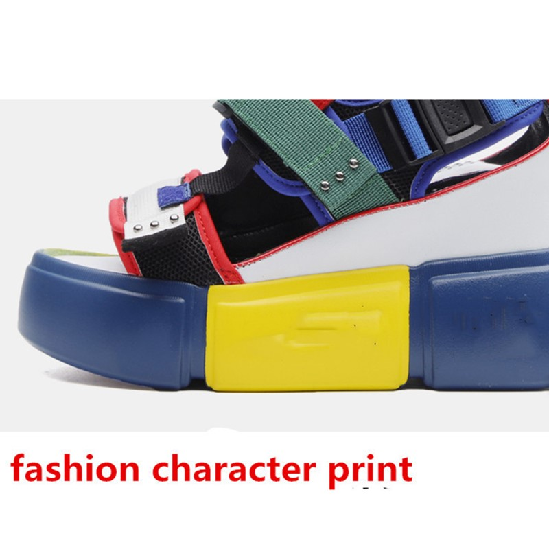 HTB1DognOhYaK1RjSZFnq6y80pXal SWONCO Women's Sandals 2019 Summer High Heels Sandals For Women Chunky Sandal Womens Wedge Platform Shoes Casual Summer Sandal
