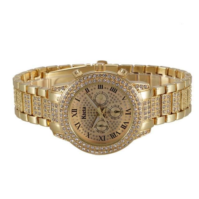 2018 Golden Women Watches Fashion Top Brand Luxury Famous Quartz Watch Ladies Wrist Watch Female Clock Hodinky Relogio Feminino