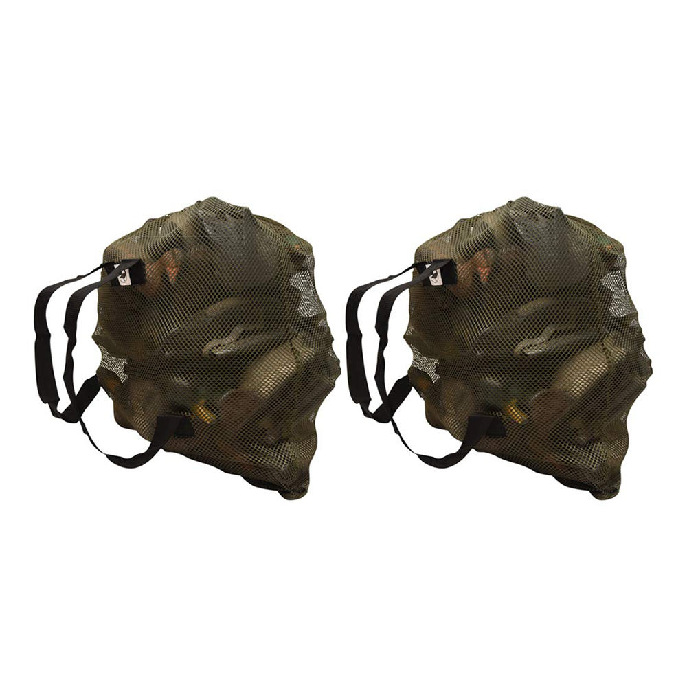 Duck Goose Turkey Decoy Bag Mesh Decoy Bags Hunting With Shoulder Straps Polyester Mesh Net For Hunting