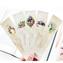 30pcs/pack flowers series paper bookmark notebook page holder message cards for school and office suppliers stationery 100% high quality travelers notebook fiiler paper 3 types page paper 3 size page paper for travel notebook change school supplie