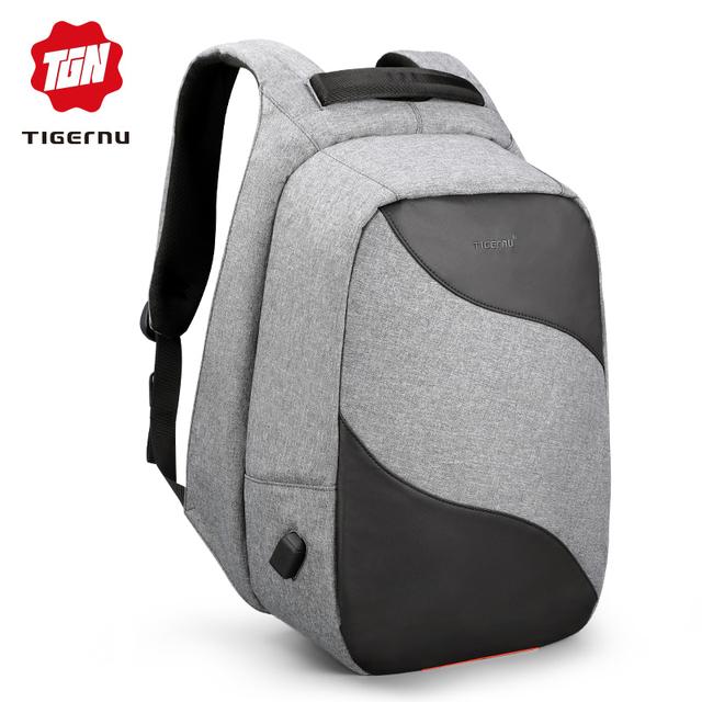 Tigernu Anti theft USB Charging 15.6inch laptop backpacks for Men backpack schoolbag Male Bisiness Travel Mochila la