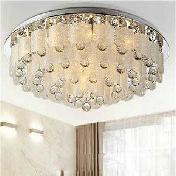 Low voltage led Luxury crystal lamp sitting room bedroom light Flat low pressure lamp E14 E 27 K9 crystal lamp freeshipping