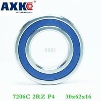 AXK 1pcs 7206 7206C 2RZ P4 30x62x16 Sealed Angular Contact Bearings Speed Spindle Bearings CNC ABEC