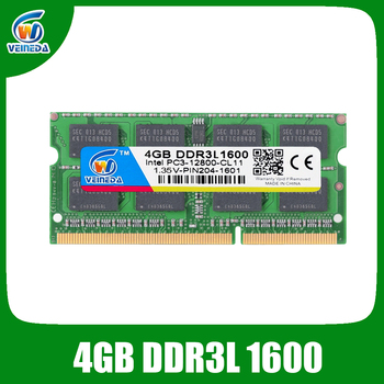 VEINEDA ram ddr3l 4 GB 8 gb ddr3 1600 voor Intel amd laptop 4 gb ddr3 sodimm 1333 240pin 1.35 V