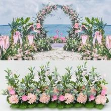 Artificial Flower Wedding Background Arch Decoration Wall DIY Home Christmas hawaii Silk flower arrangement