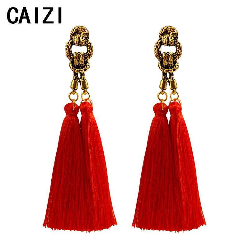 2019 Spring Summer Fashion Tassel Earrings in Drop Vintage long Dangle Ear rings Jewelry fashion Women statement Brincos Gifts