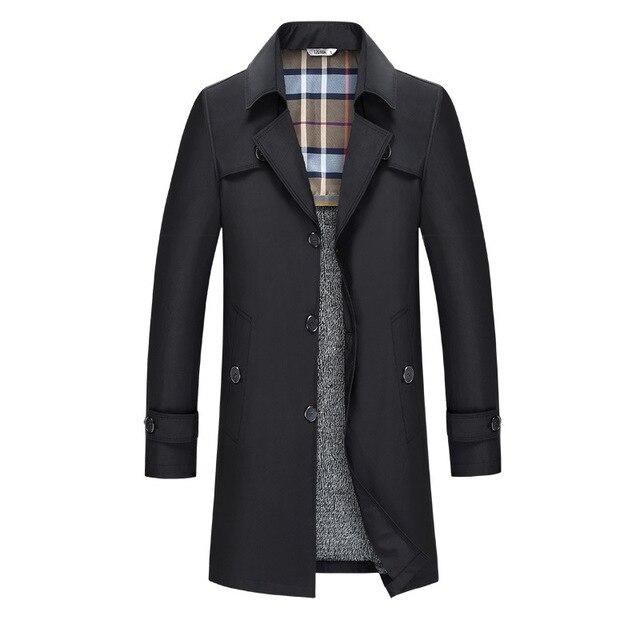 Autunno della molla del Mens Trench e Impermeabili Cappotto Maschile Giacca Sportiva Design Slim Fit Affari Casual Vestito A Vento Più Il formato 7XL