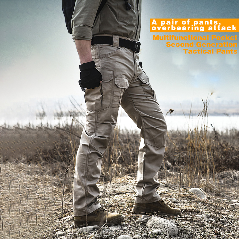 XZ Ripstop Slight Waterproof Military Pants Tactical Pants Men Camo Trousers Camping Trekking Hiking Pants Army Camouflage Pants