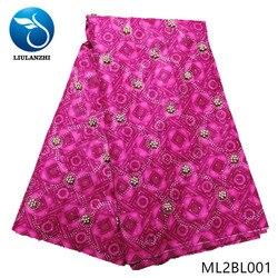 LIULANZHI afryki wosk tkaniny najnowsze druk batik tkanina z koralikami mix kamienie 6 metrów ankara prawdziwy wosk ML2BL001-ML2BL008