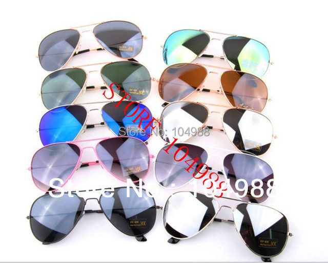 Hot Sale Retail/Wholesale  MIRROR  MIRRORED SUNGLASSES SHADES FASHION SUNGLASSES 18 Colors Free shipping
