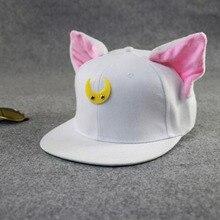 Lovely Sailor Moon Cat Cap Snapback Ears Gorras Planas Hip Hop Hat Devil Horns Sunshade Casquette Baseball Cap free shipping