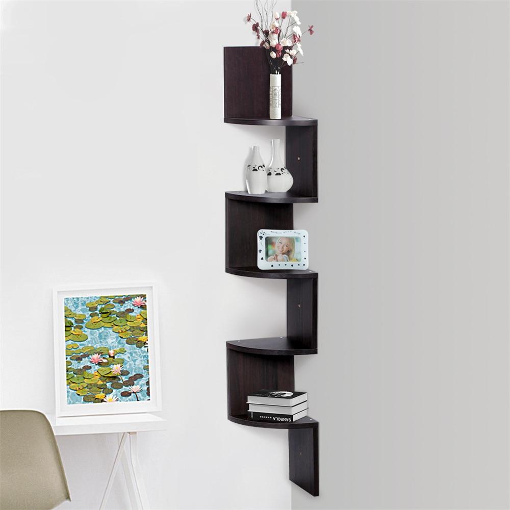 popular shelf corner bookcasebuy cheap shelf corner bookcase lots  - finether tier zig zag floating wall corner shelf unit wall mountedshelving bookcase storage